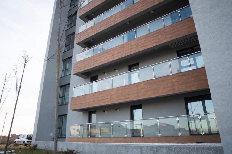 Balustrada din aluminiu pentru balcon